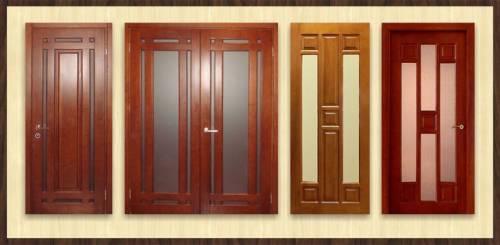 Двери из массива натуральных дуба и сосны, сравнение