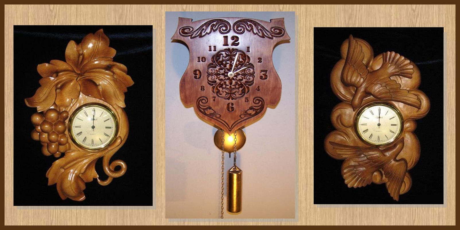 Часы настенные деревянные старинные